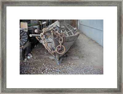 Framed Print featuring the photograph Ye Old Fishing Boat by Fran Riley