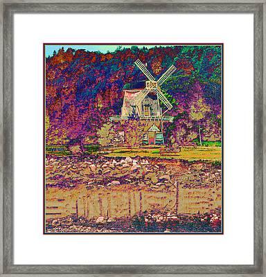 Ye Old Windmill Framed Print by Russ Mullen