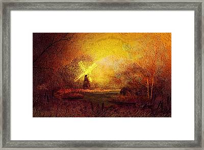 Framed Print featuring the painting Ye Olde Mill by Valerie Anne Kelly