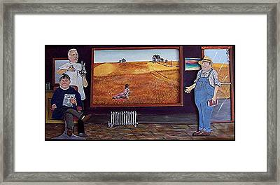Yeah Shes Been Out There For A While Now Framed Print by Richard  Hubal