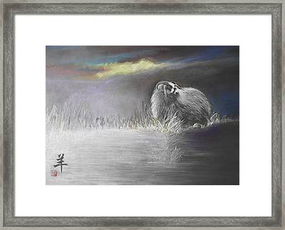 Sheep Framed Print by Alan Kirkland-Roath
