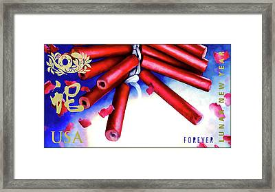 Year Of Snake Framed Print by Lanjee Chee