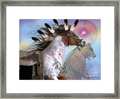 Year Of The Bear Horse Framed Print by Corey Ford