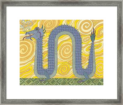 Year Of The Dragon Framed Print by Pamela Schiermeyer