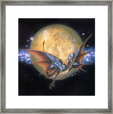 Year Of The Dragon Framed Print by Wayne Pruse
