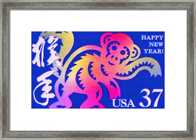 Year Of The Monkey Framed Print by Lanjee Chee