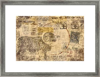 Year Of The Ram Postcard Framed Print by Carol Leigh