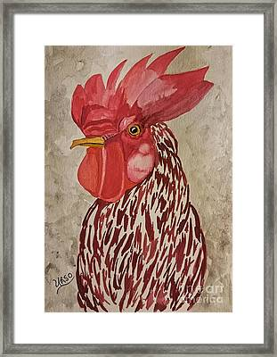 Year Of The Rooster 2017 Framed Print