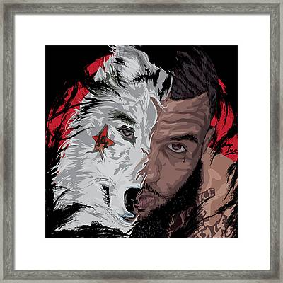 Year Of The Wolf Framed Print