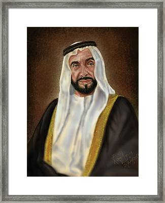 Year Of Zayed Portrait Release 2018 Framed Print by Remy Francis