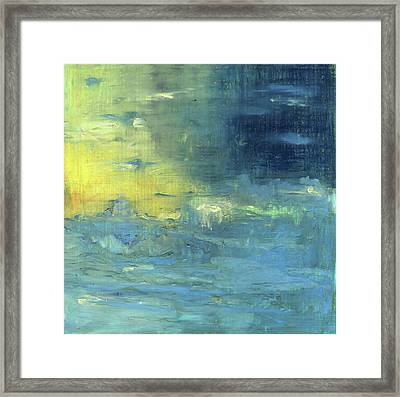 Yearning Tides Framed Print by Michal Mitak Mahgerefteh