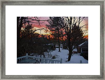 Year's End Two Thousand Ten Framed Print