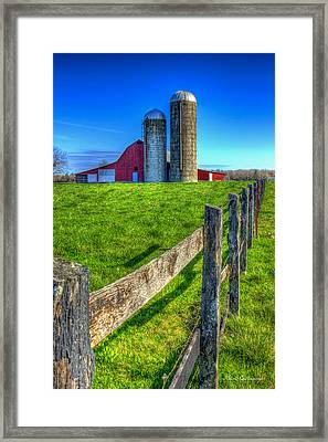 Years Gone By Tennessee Farm Art Framed Print by Reid Callaway