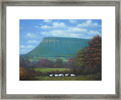 Yeats Country With Benbulben Framed Print by Sean Conlon
