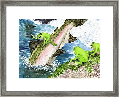 Yee Hah Framed Print by Catherine G McElroy