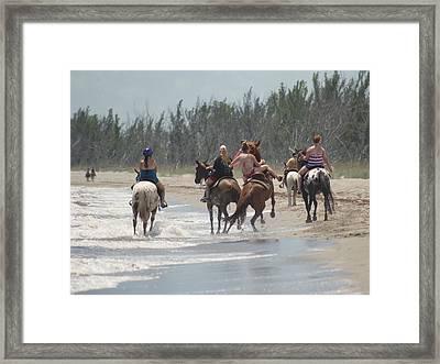 Yee Haw Framed Print by Lynda Dawson-Youngclaus