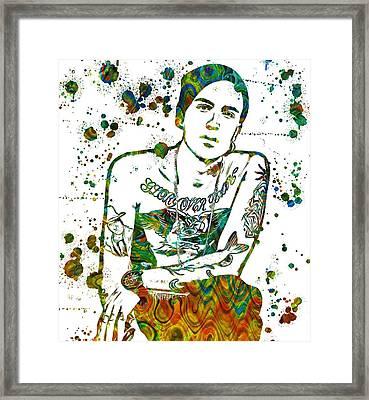 Yelawolf Paint Splatter Framed Print