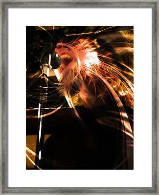 Yell Framed Print by Bear Welch