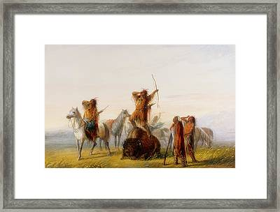 Yell Of Triumph Framed Print by Alfred Jacob Miller