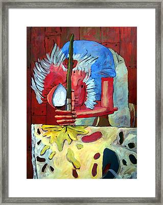 Yello Here Framed Print by Charlie Spear