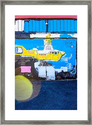 Yello Sub Framed Print by Colleen Kammerer