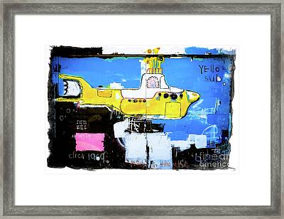 Yello Sub Graffiti Framed Print by Colleen Kammerer