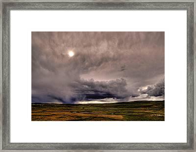 Yellostone Sky Framed Print by Patrick  Flynn