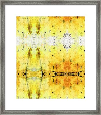 Yellow Abstract Art - Good Vibrations - By Sharon Cummings Framed Print