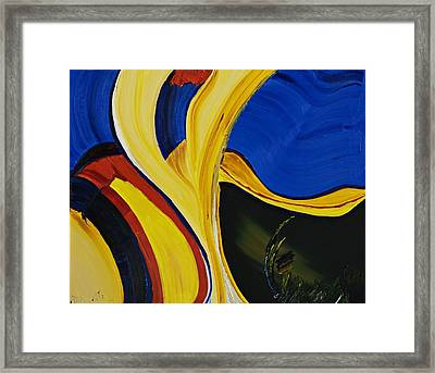 Yellow Abstract Framed Print by Gregory Allen Page