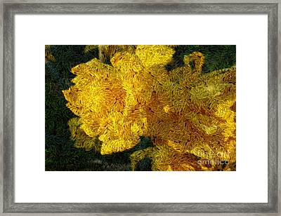 Yellow Abstraction Framed Print by Jean Bernard Roussilhe