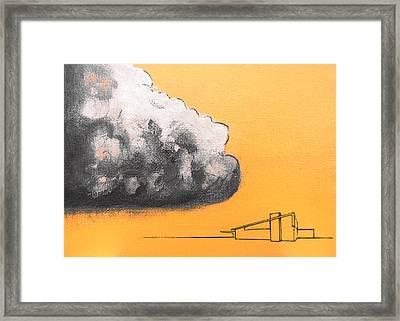 Yellow Alex Dark Cloud Framed Print by Stan  Magnan