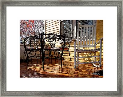 Yellow Ambiance Framed Print by Betsy Zimmerli