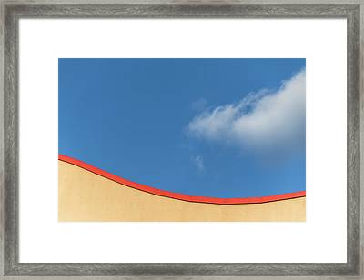 Yellow And Blue - Framed Print