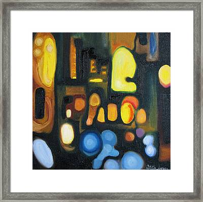 Framed Print featuring the painting Yellow And Blue by Patricia Arroyo