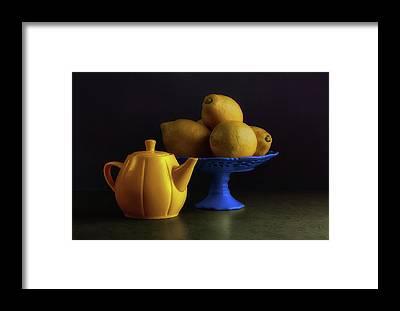Fruit Stand Framed Prints