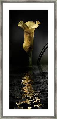 Yellow And Gray Framed Print