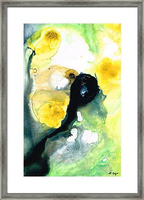 Yellow And Green Abstract Art - Into The Light - Sharon Cummings Framed Print by Sharon Cummings
