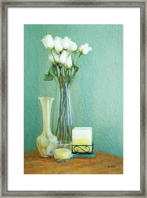 Yellow And Green Framed Print