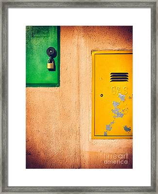 Framed Print featuring the photograph Yellow And Green by Silvia Ganora