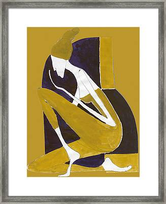 Yellow And Violet Framed Print