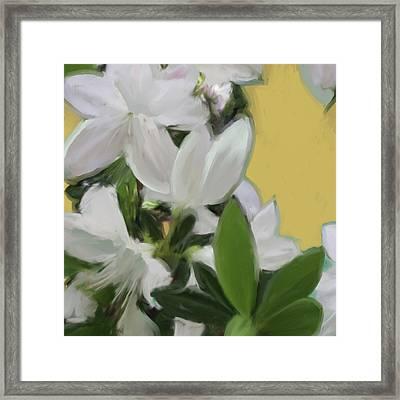 Yellow And White Flower Art 1  Framed Print
