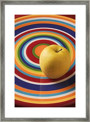 Yellow Apple  Framed Print by Garry Gay
