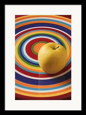 Yellow Apples Framed Prints