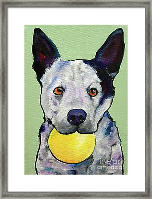 Yellow Ball Framed Print by Pat Saunders-White