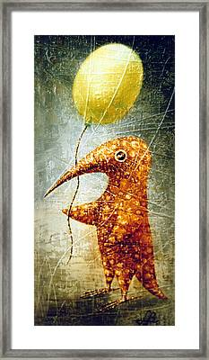 Yellow Balloon Framed Print