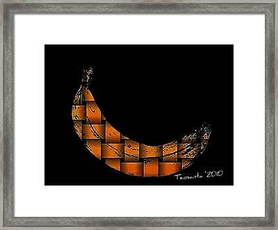 Yellow Banana Weave Framed Print by Teodoro De La Santa