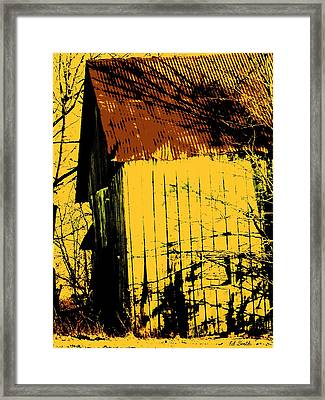 Yellow Barn Framed Print by Ed Smith