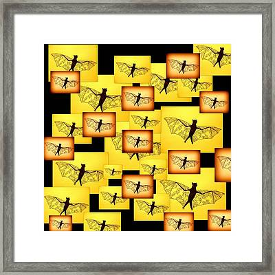 Yellow Bats Framed Print by Cathy Jacobs