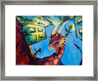 Yellow Bearded Dragon Framed Print