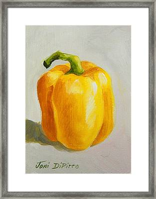 Yellow Bell Pepper Framed Print by Joni Dipirro